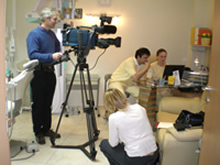 BBC filming in Hungary Dental Clinic